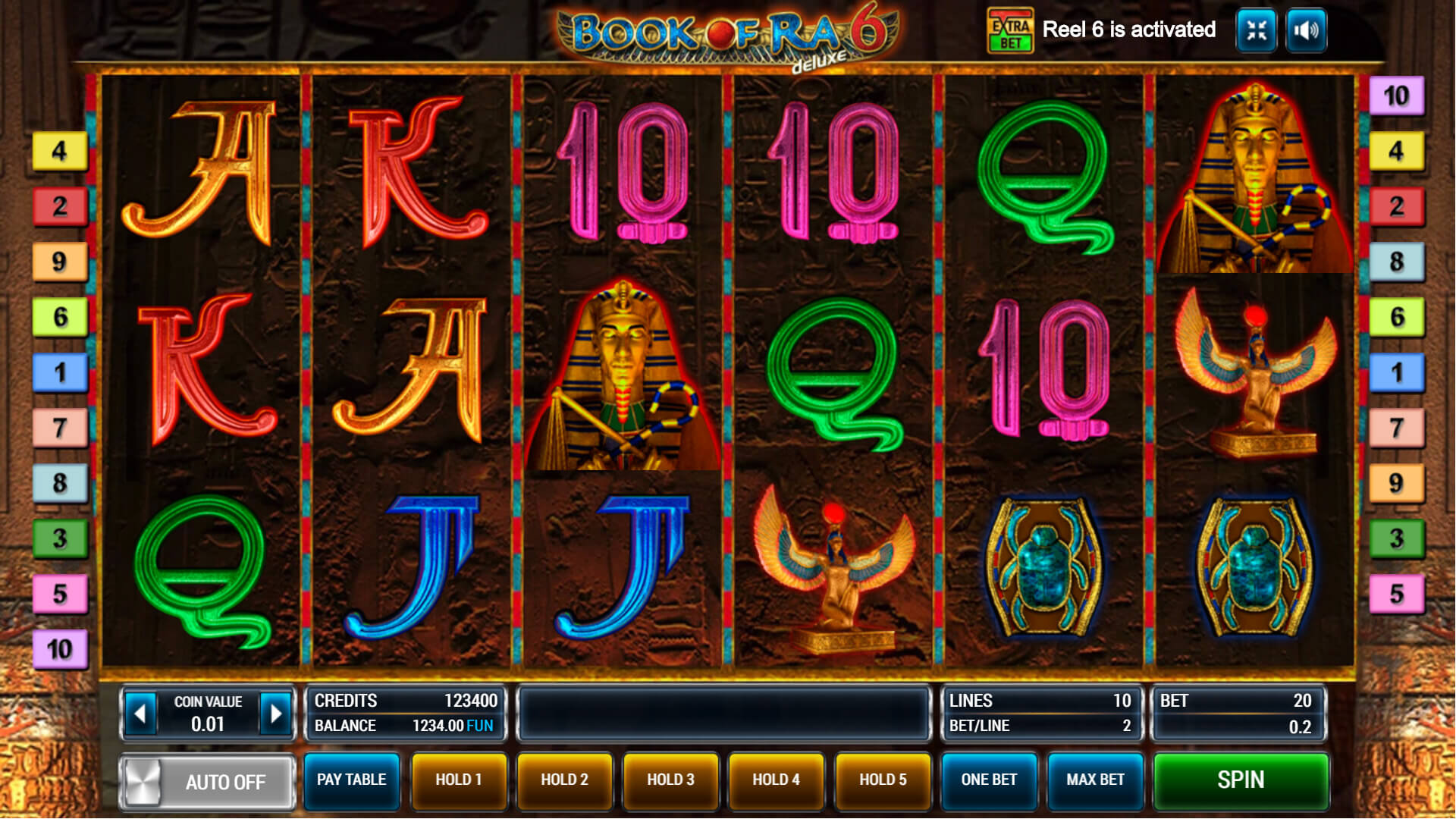 Изображение игрового автомата Book of Ra Deluxe 6 1