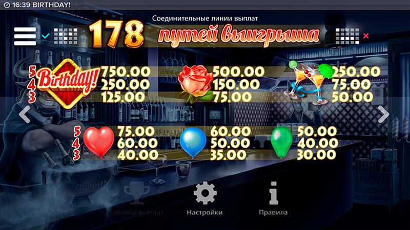 Изображение игрового автомата Birthday 3