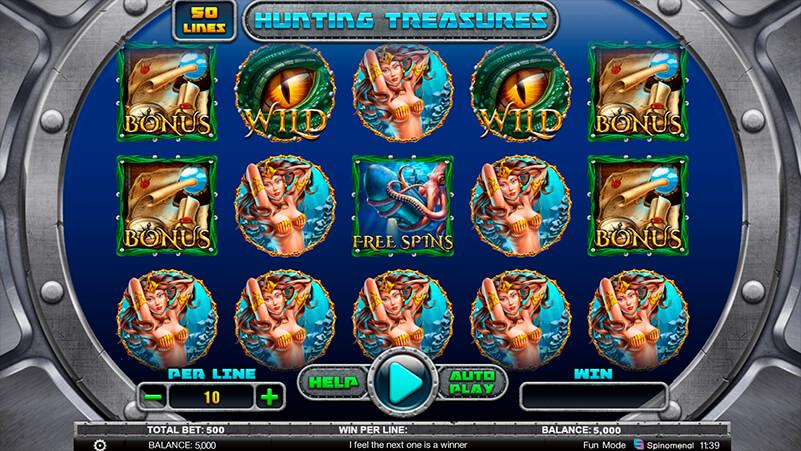 Изображение игрового автомата Hunting Treasures 1