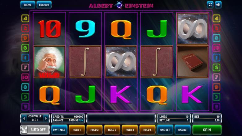 Изображение игрового автомата Albert Einstein 2