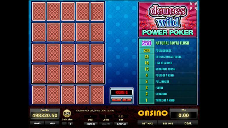 Изображение игрового автомата Deuces Wild 4-Hand Poker 1
