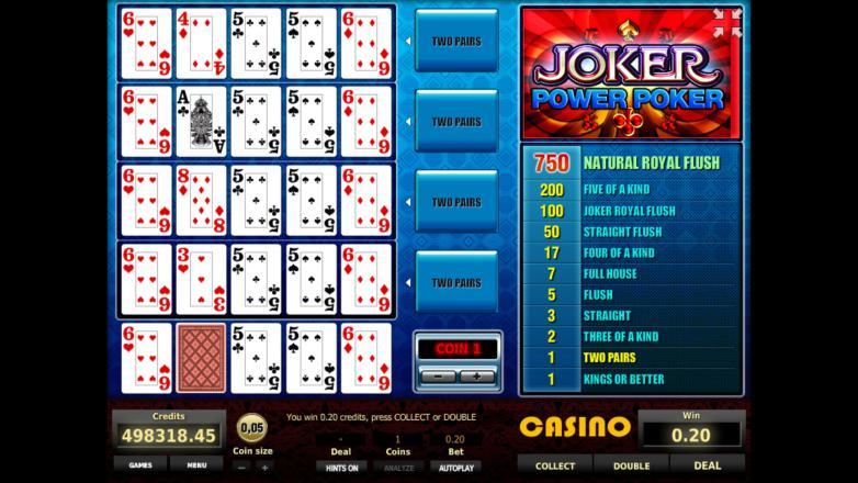 Изображение игрового автомата Joker 4-Hand Poker 3