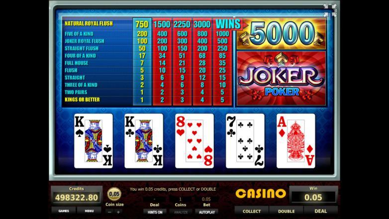 Изображение игрового автомата Joker Poker 3