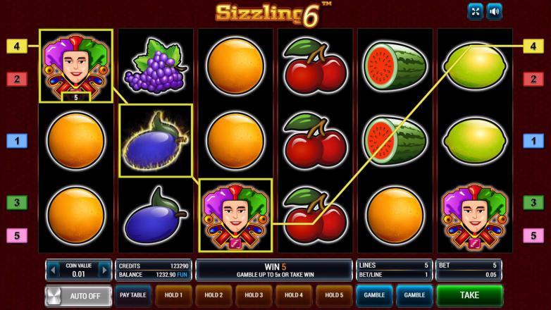 Изображение игрового автомата Sizzling 6 2