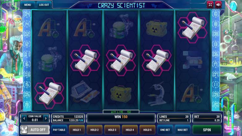 Изображение игрового автомата Crazy scientist 2