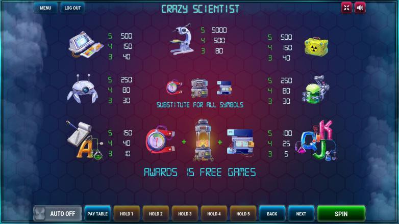 Изображение игрового автомата Crazy scientist 3